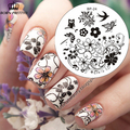 Charming Spring Nail Art Stamp Template Image Plate Nail Stamping Plate BORN PRETTY BP24 Nail Stamp Plates Set