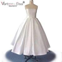 Vestiti Da Sposa Donna Simple Short Wedding Dress Taffeta Bridal Dresses 2016 Tea Length Wedding Dress