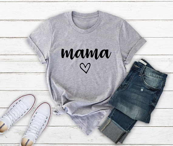 b02183fc5 Aliexpress.com : Buy Skuggnas Mama Gift T shirt gift for mom pregnancy  announcement shirt new mom gift Short Sleeve Fashion Casual Mom T shirt  from Reliable ...
