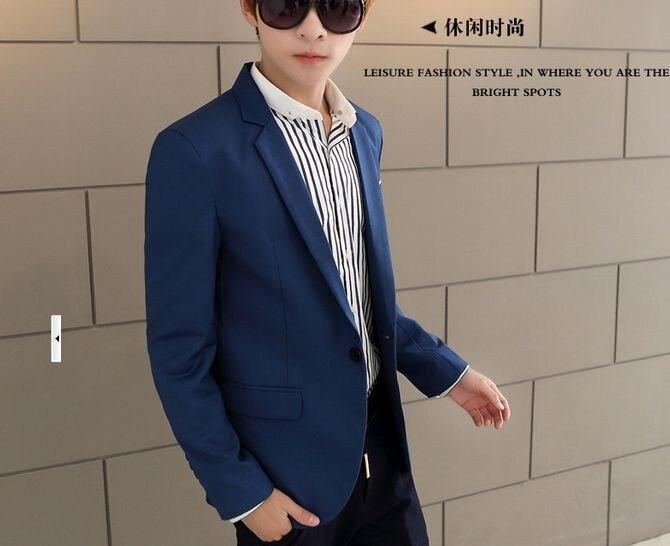 Новое поступление топ костюм для мужчин осенний мужской повседневный Блейзер корейский тонкий пиджак мужской блейзер 6 цветов S-6XL 030602