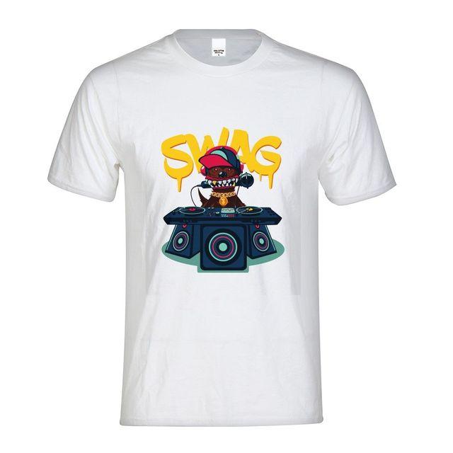 Hip Pop Wag cráneos Animal Panda imprimir algodón camiseta hombres camisetas  de los hombres camisetas divertidas 588da3c2aaf