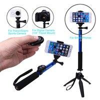Pour iPhone 7 6 S Plus SE 5 C Pour Samsung S7 bord S6 A8 A5 Z + Bluetooth Obturateur de Caméra Selfie Bâton GOPRO Manfrotto + YUNTENG trépied