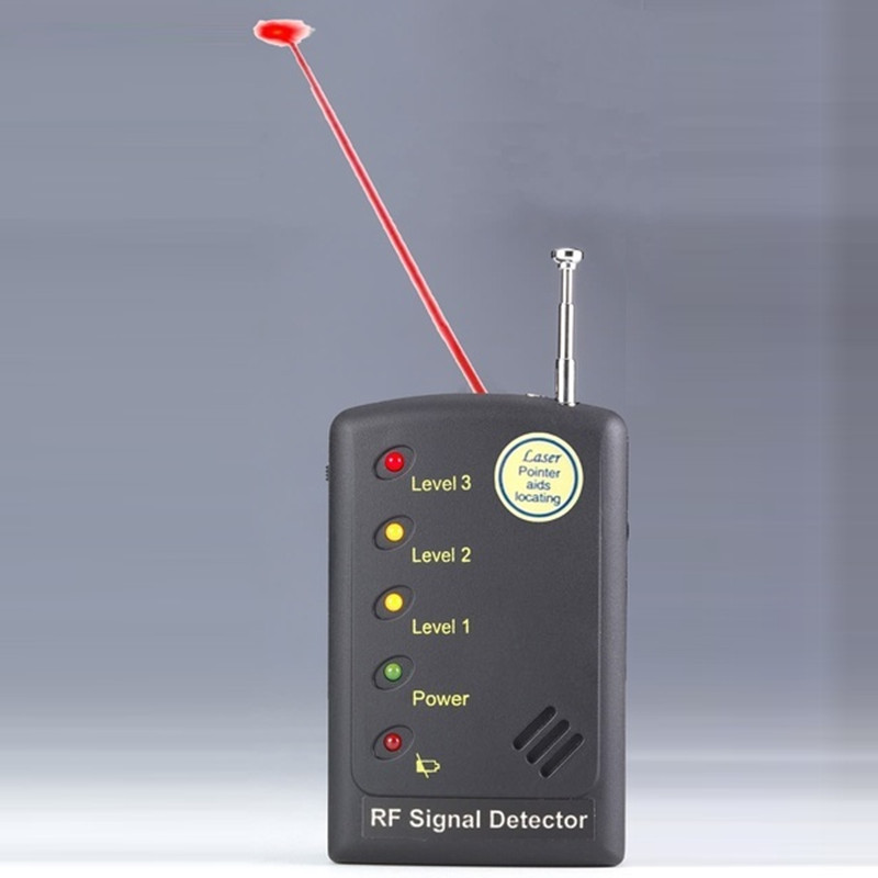 Multi-use Detector RF Signal Detector Laser Assisted Phone GSM GPS WiFi Bug Camera Lens Scanner For Security Anti-candid 1 pcs full range multi function detectable rf lens detector wireless camera gps spy bug rf signal gsm device finder