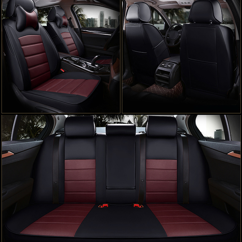 Autotory All 3 Rows Cowhide Covers Seat for Jeep Commander Automobiles Seat Cover Set Leather Seats Cushion Supports Accessories