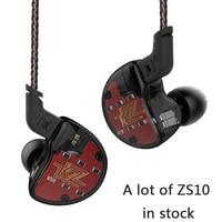New KZ ZS10 In Ear Earphone Dynamic 4BA Hybrid 10 Driver Armature Earbuds HiFi DJ Monitor