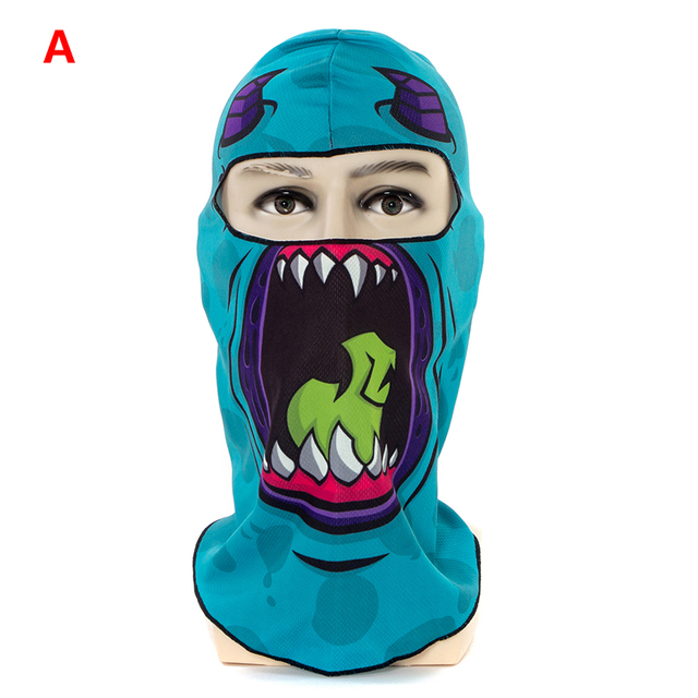 1pcs 3D Outdoor Sport Creative Mask Anti-UV Bicycle Riding Face Scarf Scarves Breathable Headband Protect Full Face Mask