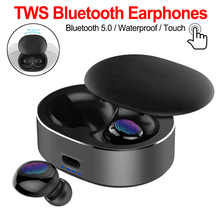 TWS 5.0 Mini Bluetooth Earphones Wireless Sports Earphone 3D Stereo Headset Noise Cancelling Earbuds With Microphone anomoibuds capsule wireless bluetooth earphones tws earbuds auto pairing noise cancelling v5 0 stereo call sport earphone