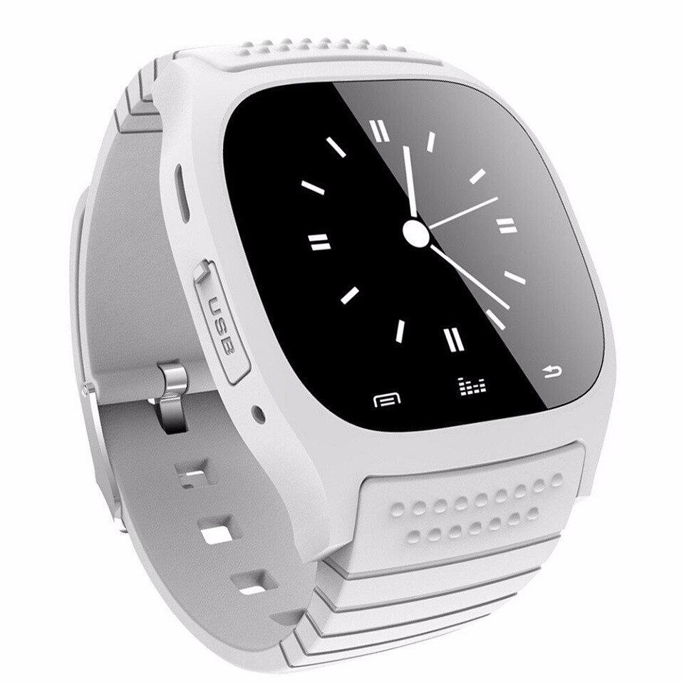 Montre-bracelet de luxe D'origine Bluetooth Montre Smart Watch M26 horloge Baromètre Alitmeter Musique Podomètre pour Android IOS Téléphone smartwatch