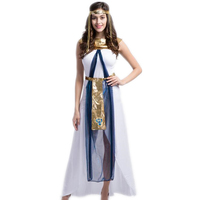 Sexy Cleopatra Costume Queen Goddess Cosplay Women Girls Egyptian Halloween Costume Ethnic Clothing