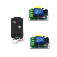 315MHz 1 way Relay Learning Code Wireless Remote Control Switch 1 Transmitter+2 Receiver AC 220V 30A 3 Working Modes SKU: 5531