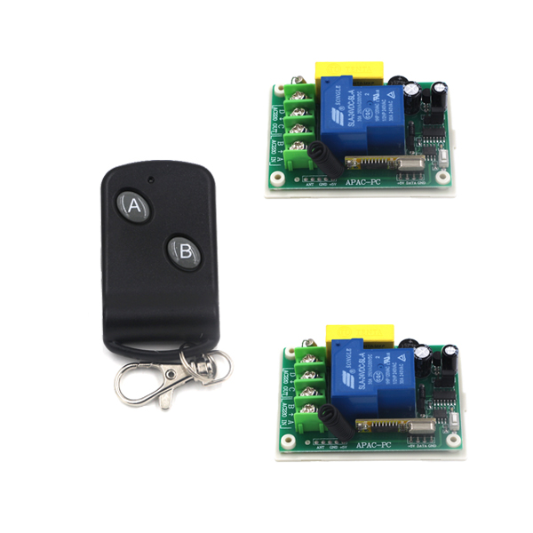 315MHz 1-way Relay Learning Code Wireless Remote Control Switch 1 Transmitter+2 Receiver AC 220V 30A 3 Working Modes SKU: 5531 220v 30a wireless remote control switch receiver transmitter 315 433mhz