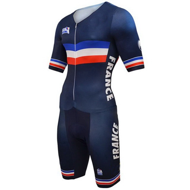 2016 FRANCE NATIONAL TEAM Skinsuit Bodysuit Summer Cycling Jersey Sets MTB Bike Bicycle Clothing MTB Maillot