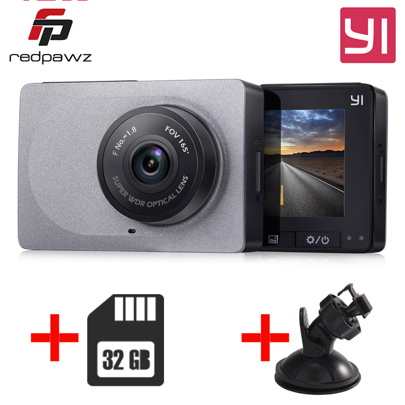 [International Edition] YI xiaomi Smart Dash Camera  + 32G Card 2.7 Inch Car DVR 165 Degree 1080P/60fps Video Recorder ADAS WiFi fundamentals of physics extended 9th edition international student version with wileyplus set