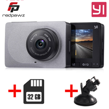 [International Edition] YI xiaomi Smart Dash Camera  + 32G Card 2.7 Inch Car DVR 165 Degree 1080P/60fps Video Recorder ADAS WiFi
