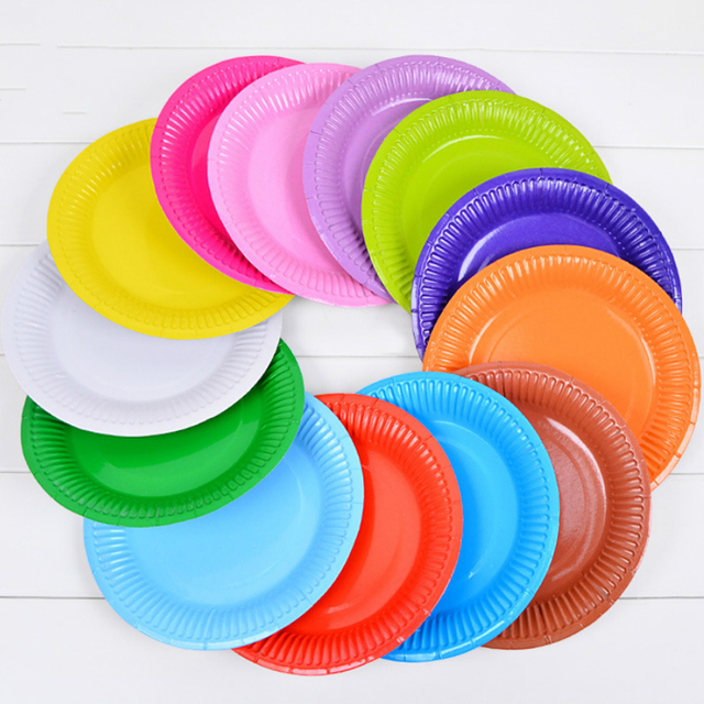 10pcs Wedding Disposable Table Decorations Dessert Paper Plates Theme Cake Food Buffet Plates Red Pink tableware  sc 1 st  AliExpress.com & 10pcs Wedding Disposable Table Decorations Dessert Paper Plates ...