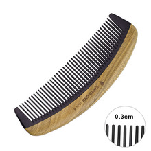 Natural Sandalwood Ox Horn Wood Comb Portable Anti Frizz Hair Comb with Thin Tooth Makeup Tool No Static Hair Combs Hairdressing