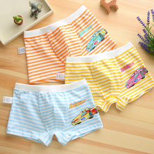 4pcs/lot Underpants Briefs for Boys Underwears Panties Infant Boxer car Cotton Teenagers 2-9 Y