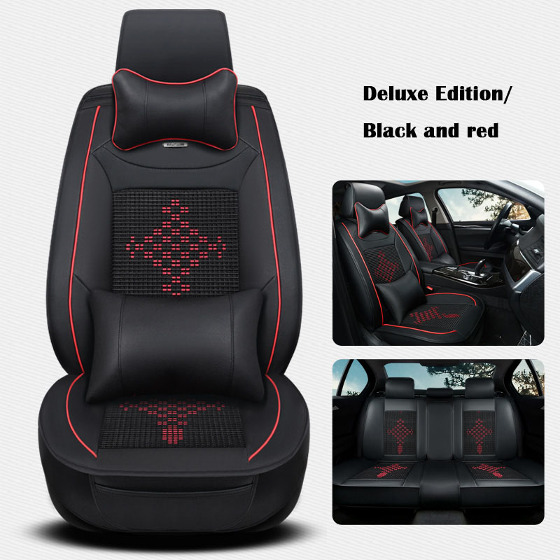 Ice silk and leather Car Seat cover For Cadillac ATS CT6 XTS XT5 SRX ESCALADE car covers car accessories car-styling auto-covers