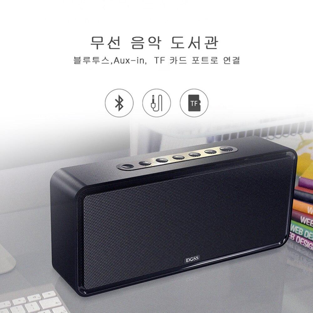 DOSS SoundBox XL haut-parleur Bluetooth sans fil Portable haut-parleurs Bluetooth 32 W 3D stéréo caisson de basses audacieux Support TF AUX - 5
