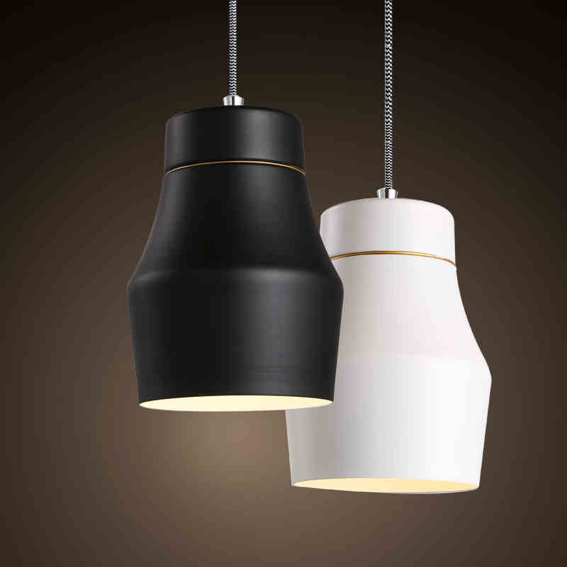 Modern minimalist style of Nordic white small head table personality LED bar restaurant lights line study Chandelier