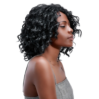 Long Loose Wave Black Hair Wigs Synthetic Afro Wig 19'' African Wigs for Black Women Adult Party Hairs Hollywood OEM HPHR 016