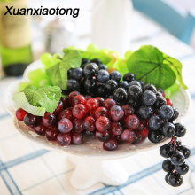 Xuanxiaotong 10pcs/set Artificial Grape Fruits Black Red Green Purple Raisin Grapes Handing Plant Courtyard Garden Decor