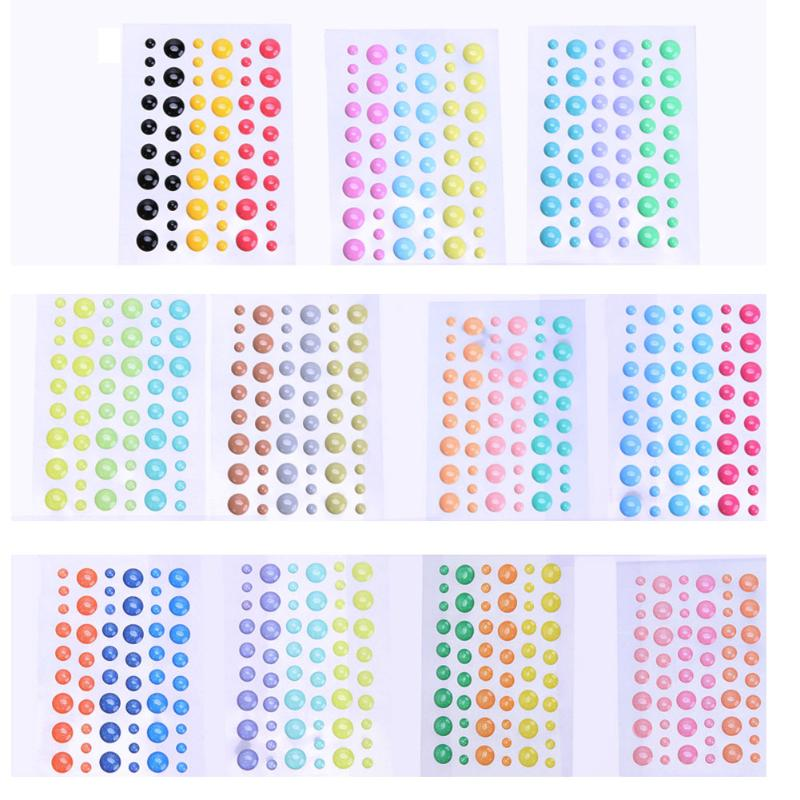 54pcs/Pack Sticker Card-Crafts Sugar Assorted Scrapbooking Self-Adhesive Resin Enamel