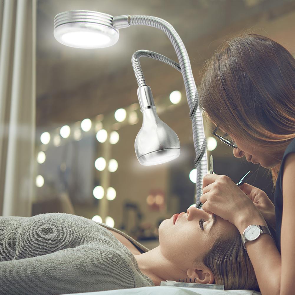 Creative 2 dans 1 Clip Lampe de Table Design USB Réglable Blanc Froid Lampe De Bureau pour Sourcil De Tatouage Nail Art Beauté maquillage De Pêche