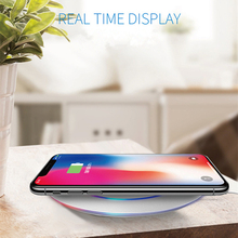 NTSPACE Qi Wireless Charger Smart Charging Pad For iPhone X 8 Plus/Xiaomi/Huawei/Samsung S9 S8 S7 S6 USB Phone