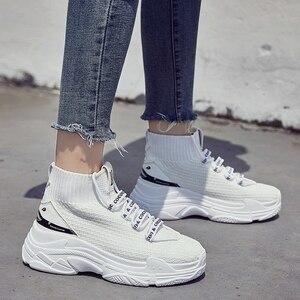 Image 5 - Köpekbalığı Sneaker Kadın Scarpe Donna Kadın platform ayakkabılar Flats Moda Rahat Tıknaz Sneakers Kadın Ayakkabı Sıcak Satış Zapatos De Mujer