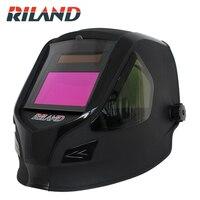 RILAND Solar Auto Darkening Welding Helmet/Welder Cap TIG MMA ARC MIG Welding Mask Welder Hood Solar Li Battery X9000