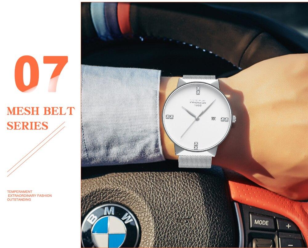 NIBOSI 2018 New Fashion Simple Watch Slim Mesh Band Mens Dress Watches Top Brand Luxury Male Relogio Masculino Quartz Wristwatch (24)