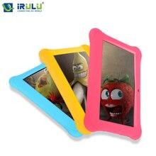 Irulu babypad y1 7 »tablet pc дети дети таблетки android 4.4 quad core двойная камера google 1g ram 8 г rom бесплатно силиконовые случае