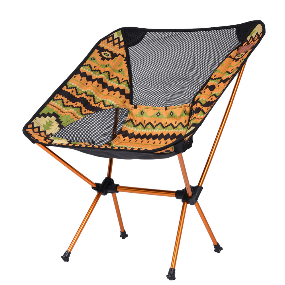 outdoor folding chair fishing chair portable backrest bbq picnic camping chairs aluminum alloy camping furniture accessories - Outdoor Folding Chairs