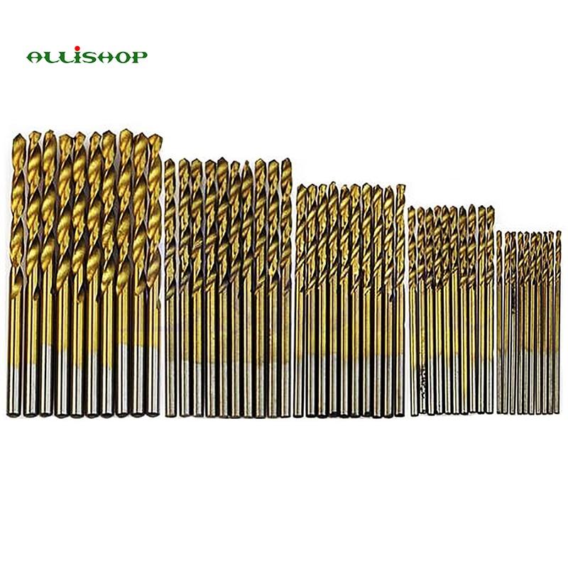 ALLISHOP 5Pcs/Set Twist Drill Bit Set Set HSS High Steel Titanium Tool Coated 13pcs set hss high speed steel twist drill bit for metal titanium coated drill 1 4 hex shank 1 5 6 5mm power tools par ad1038