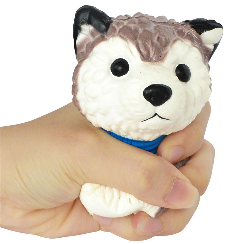 1pc  Squeeze Spotted Bread Scented Slow Rising Dog Decompression Toys Props Squirrel Swipes Anti-stress For Kid A1