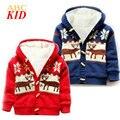 Рождество veados наталь младенцы пальто casaco де натальной лося свитер с оленями с капюшоном рун куртки Рог Кнопку наряды KD077