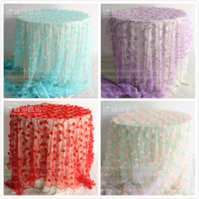 3 Yard Free Shipping Wedding Tablecloths New African Lace Fabric Stereo  Petals French Fabric Organza Gauze