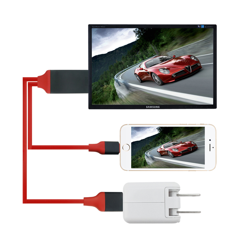 Applicable to Iphone6/6plus/7/7plus/mobile phone with TV MHL line HDMI high-definition audio and video cable plug play