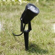 Lâmpada led para área externa, para gramado, para jardim, 3w, 9w, para paisagem, à prova d água, dc12v, para caminho, branco quente, verde luzes ac220v 110v