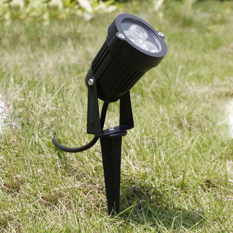 Outdoor LED Garden Lawn Light 3W 9W Landscape Lamp Spike Waterproof DC12V Path Bulb Warm White Green Spot Lights AC220V 110V