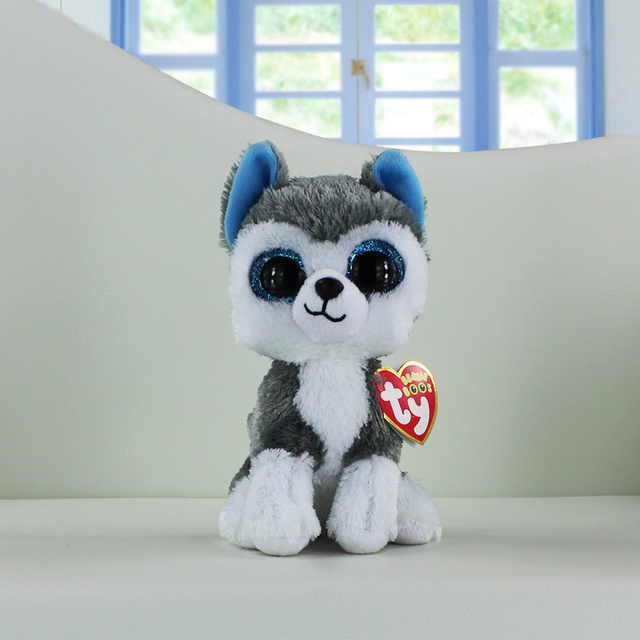 Ty Beanie Boos Plush Toys Beanie Babies Big Eyes Slush Husky Dog Unicorn  Soft Stuffed Animal 0dc32ef91d49