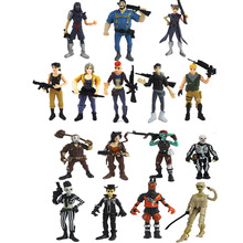 16pcs/set 9cm 11.5cm Battle Royale Action Figure Toy Collection for Children Infant Llama Anime Model Toys