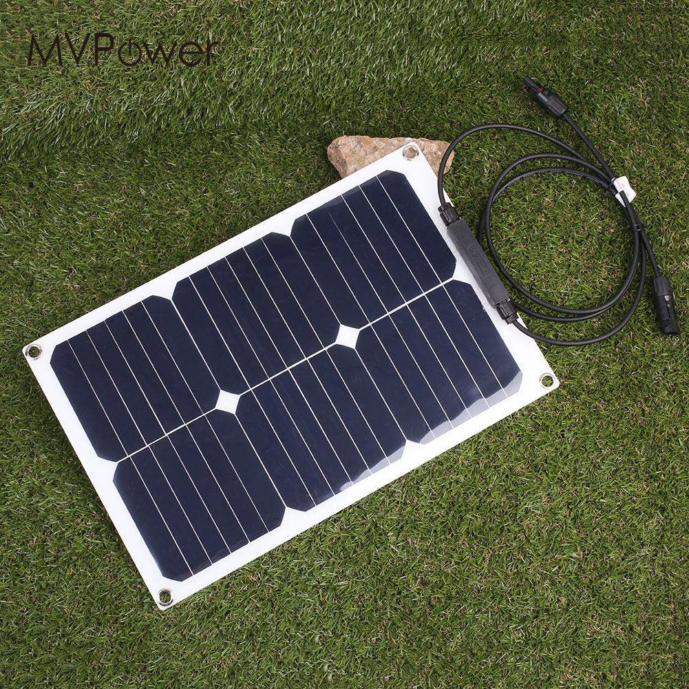 DIY Photovoltaic Panels Durable 20W Solar Cells Charging 18V Solar Panel 1m 15m photovoltaic solar cells back sheet tpe tedlar film for diy solar panel encapsulation