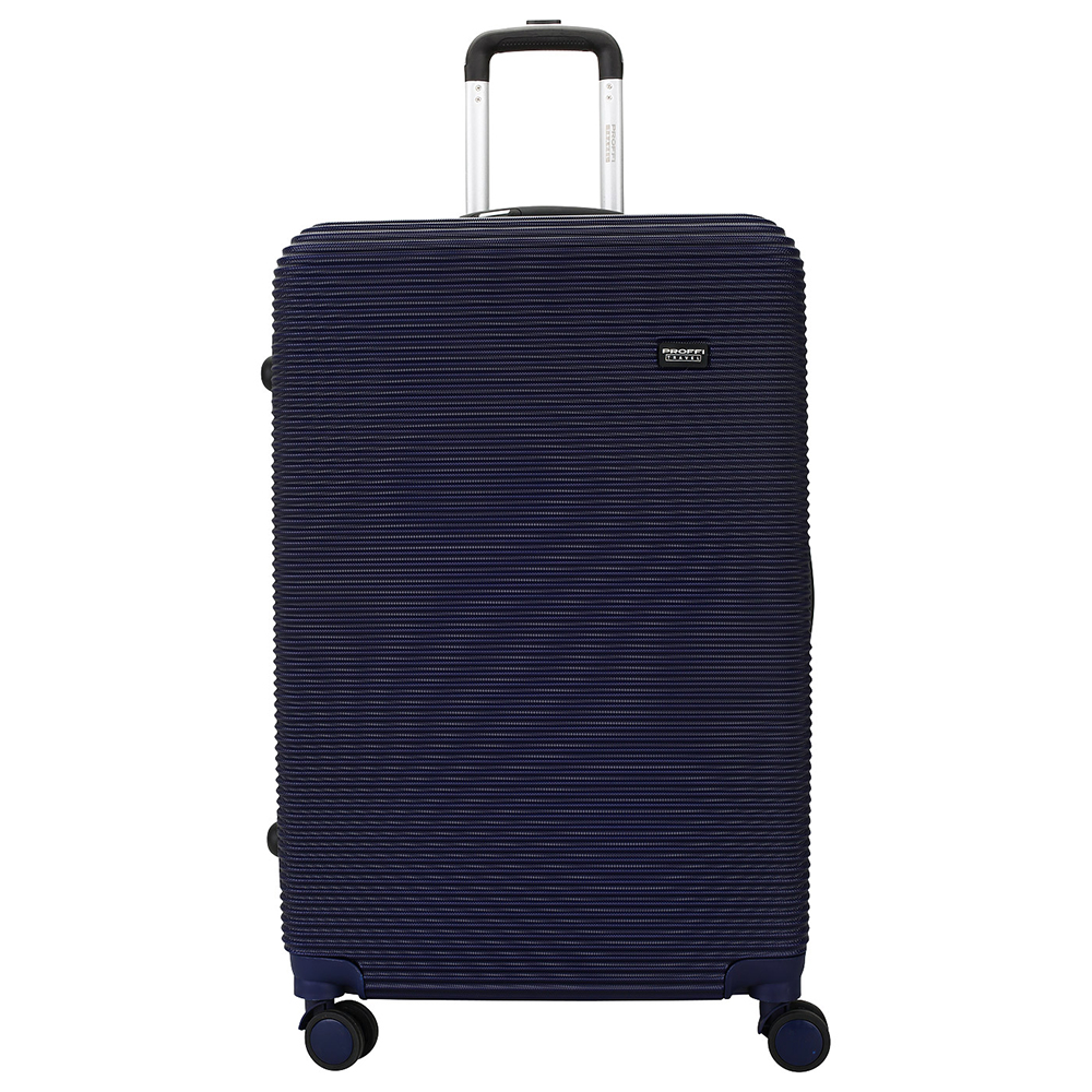 [Available from 10.11] Good blue suitcase PROFFI TRAVEL PH8862 navy L large plastic built-in weights, on wheels combination lock