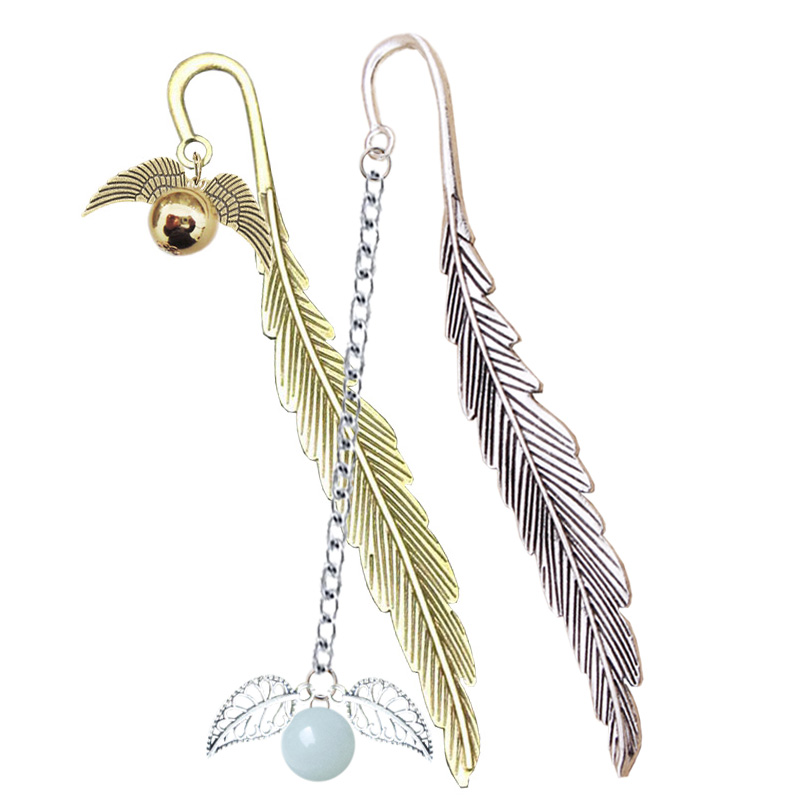 Wing Snitch Metal Feather Bookmark Harry Potter Charm