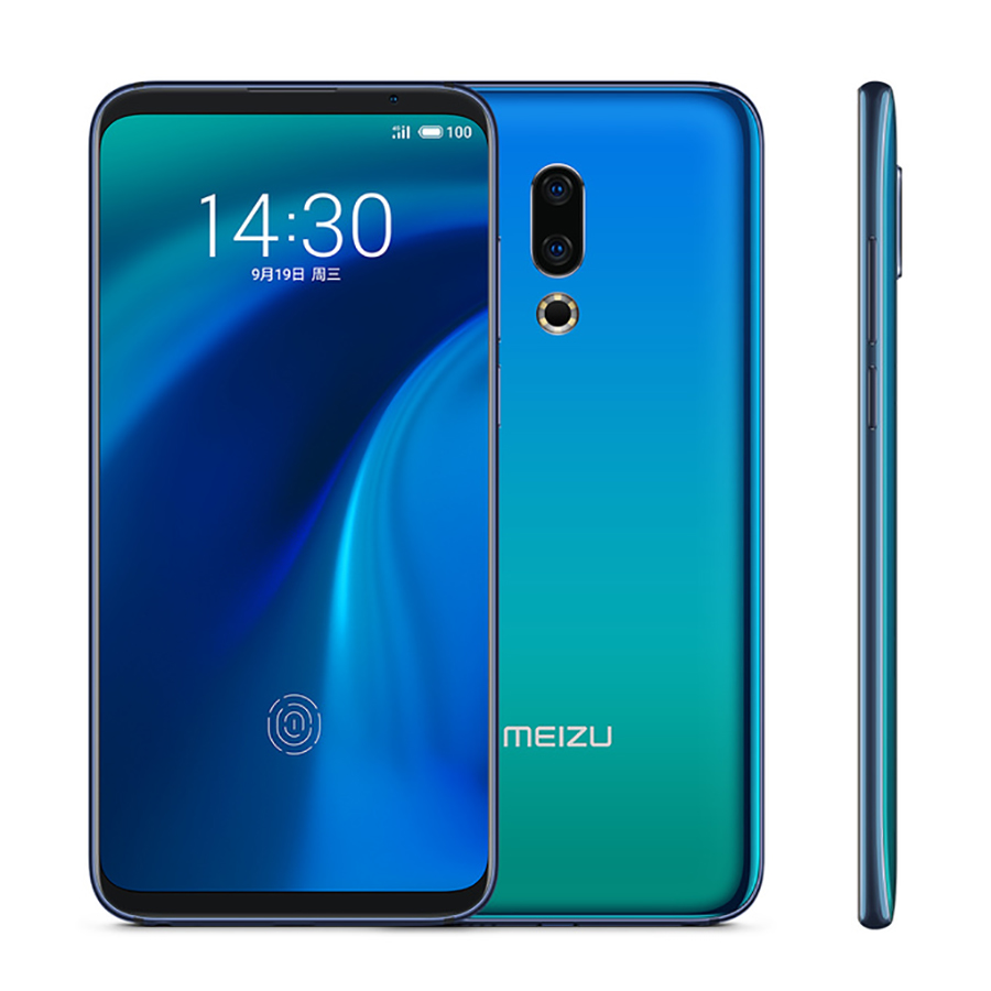 Original Meizu 16th Plus Mobile Phone 6.5 Inch 6GB/8GB 128GB/256GB Snapdragon 845 In-Screen Unlock 3640mAh 20MP Camera Phone