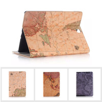 Brand Map Design Tablet Smart Leather Case For Apple IPAD Mini 4 Flip Stand Wallet Cases