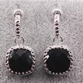 Black Onyx 925 Sterling Silver Brincos TE452