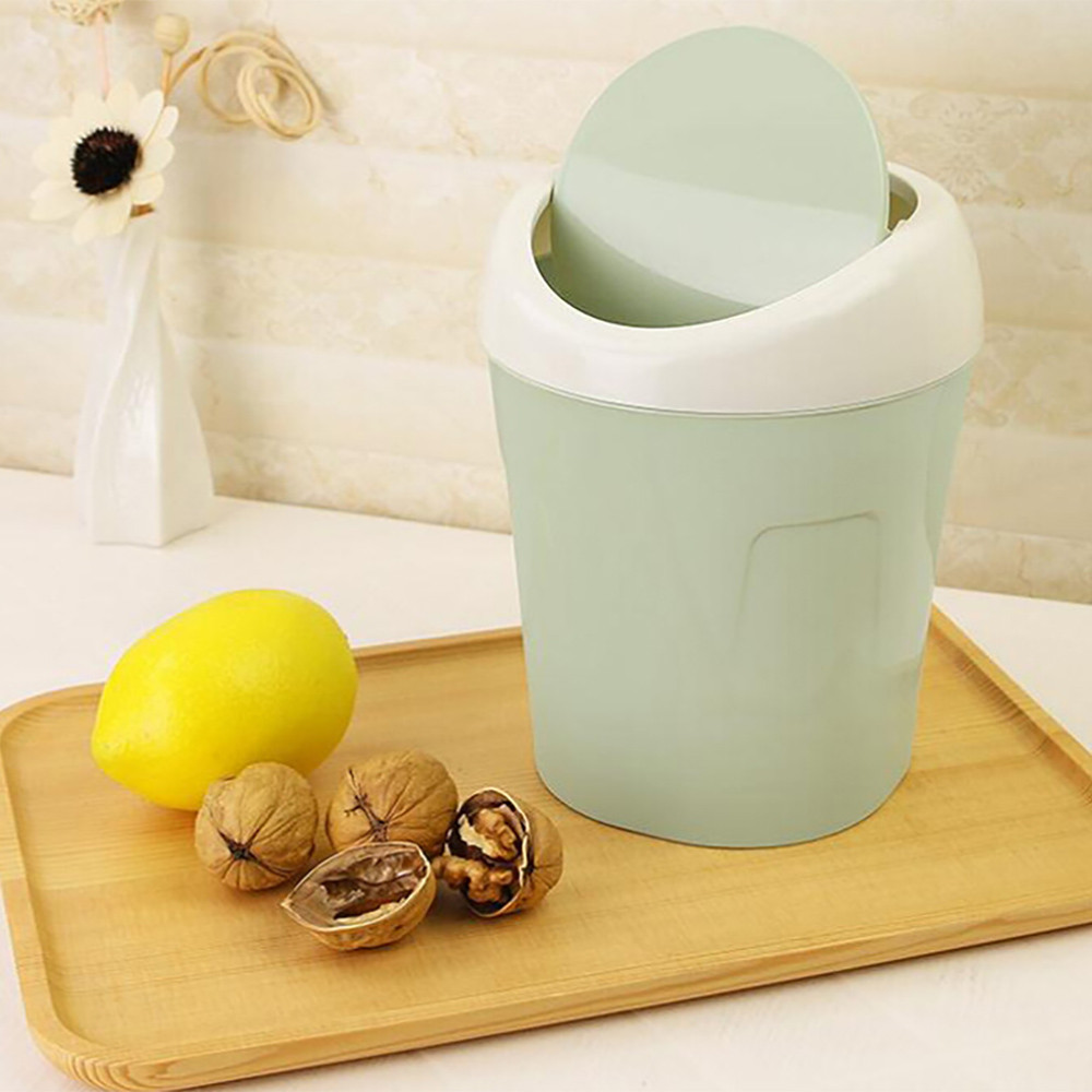 Trumpet Desktops Mini Creative Covered Kitchen Living Room Trash Can